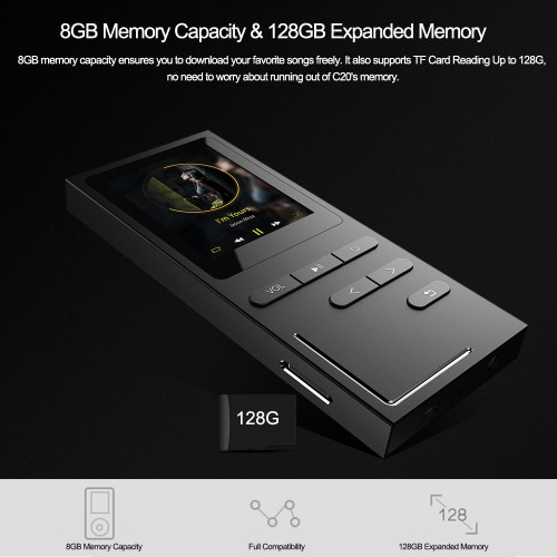 C18 MP3 Player HiFi Metal Music Player 8GBVideo &amp; Audio<br>C18 MP3 Player HiFi Metal Music Player 8GB<br>