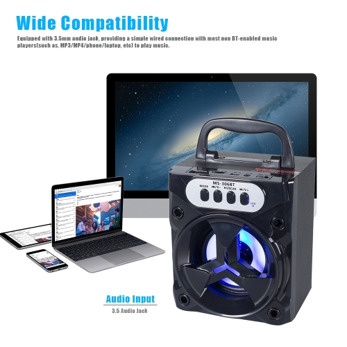 MS-306BT Portable Wireless BT Speaker Loudspeaker with FM Radio 3.5mm Audio USB Port TF Card Slot for Smartphones Tablets and otheVideo &amp; Audio<br>MS-306BT Portable Wireless BT Speaker Loudspeaker with FM Radio 3.5mm Audio USB Port TF Card Slot for Smartphones Tablets and othe<br>