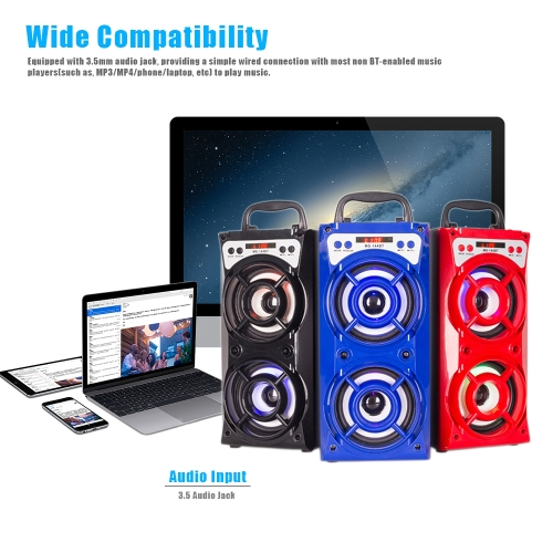 MS-144BT Wireless BT Speaker Multimedia Mobile Speaker LED Light Loudspeaker Music Play with USB/TF/AUX/FM RadioVideo &amp; Audio<br>MS-144BT Wireless BT Speaker Multimedia Mobile Speaker LED Light Loudspeaker Music Play with USB/TF/AUX/FM Radio<br>