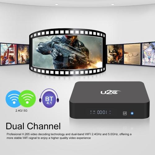 U2C Z PLUS Smart Android TV Box Android 7.1 Amlogic S912 Octa-core 64 Bit 2GB / 16GB H.265 UHD 4K Mini PC 2.4G &amp; 5G WiFi 1000M LANVideo &amp; Audio<br>U2C Z PLUS Smart Android TV Box Android 7.1 Amlogic S912 Octa-core 64 Bit 2GB / 16GB H.265 UHD 4K Mini PC 2.4G &amp; 5G WiFi 1000M LAN<br>