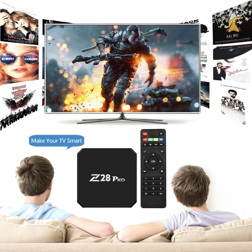 Z28 PRO Smart Android 7.1 TV Box RK3328 Quad Core 64 Bit UHD 4K VP9 H.265 USB3.0 2GB / 16GB Mini PC WiFi LAN HD Media Player US PlVideo &amp; Audio<br>Z28 PRO Smart Android 7.1 TV Box RK3328 Quad Core 64 Bit UHD 4K VP9 H.265 USB3.0 2GB / 16GB Mini PC WiFi LAN HD Media Player US Pl<br>
