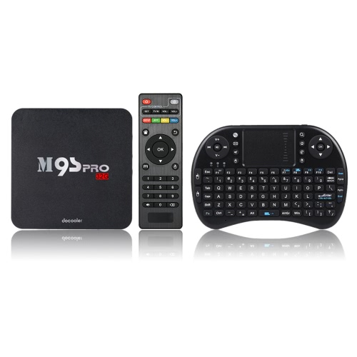 Docooler M9S-PRO Android 5.1 TV Box w/ 2.4G Wireless QWERTY KeyboardVideo &amp; Audio<br>Docooler M9S-PRO Android 5.1 TV Box w/ 2.4G Wireless QWERTY Keyboard<br>