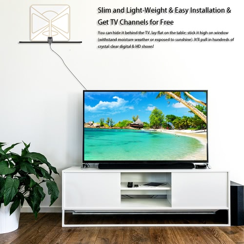 Flat HD TV Digital Indoor Antenna HDTV High Gain 35 Miles Range ATSC DVB ISDB with 10ft High Performance Coax CableVideo &amp; Audio<br>Flat HD TV Digital Indoor Antenna HDTV High Gain 35 Miles Range ATSC DVB ISDB with 10ft High Performance Coax Cable<br>