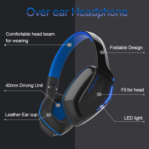 KOTION EACH B3506 Wireless Bluetooth Stereo Headphone Bluetooth 4.1 CSR 8635 Over-ear Foldable Gaming Headset with Mic 3.5mm CableVideo &amp; Audio<br>KOTION EACH B3506 Wireless Bluetooth Stereo Headphone Bluetooth 4.1 CSR 8635 Over-ear Foldable Gaming Headset with Mic 3.5mm Cable<br>