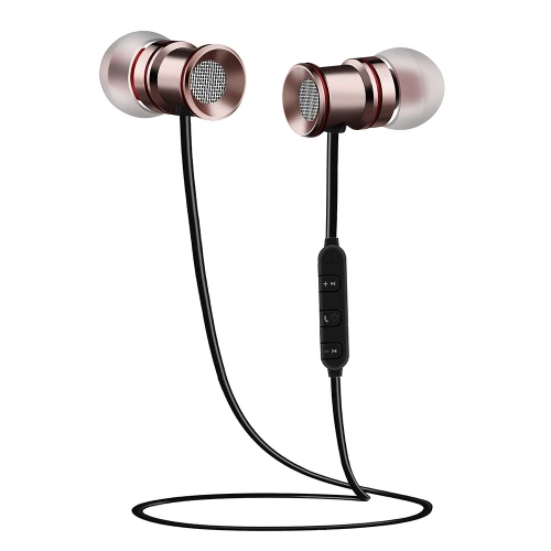 BH-828 Wireless Bluetooth Stereo Headphone CSR 4.1 In-ear Earphone Magnetic Headset Hands-free with Mic Pink for Android / iOS / WVideo &amp; Audio<br>BH-828 Wireless Bluetooth Stereo Headphone CSR 4.1 In-ear Earphone Magnetic Headset Hands-free with Mic Pink for Android / iOS / W<br>