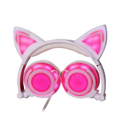 Headphone Cat Ears Earlaps With LED Light Rechargable BatteryVideo &amp; Audio<br>Headphone Cat Ears Earlaps With LED Light Rechargable Battery<br>