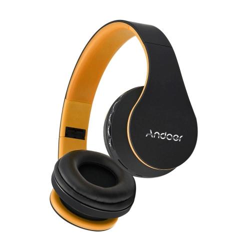 Andoer Bluetooth 4.1 Headphone Wireless StereoHeadset OrangeVideo &amp; Audio<br>Andoer Bluetooth 4.1 Headphone Wireless StereoHeadset Orange<br>