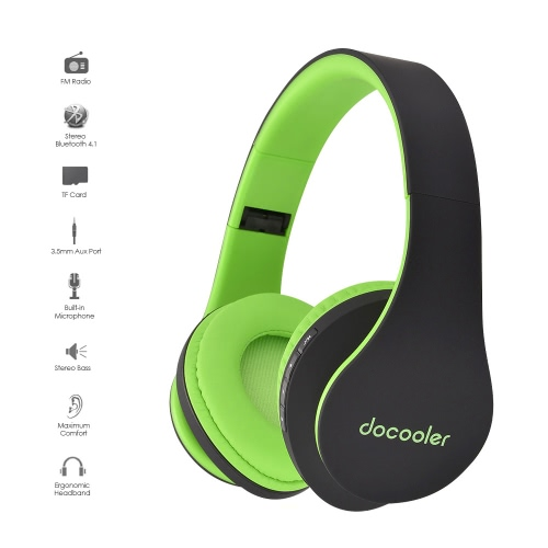 Docooler JH-812 Stereo Bluetooth Headphone Wireless Bluetooth 4.1 Headset 3.5mm Wired Earphone MP3 Player TF Card FM Radio Hands-fVideo &amp; Audio<br>Docooler JH-812 Stereo Bluetooth Headphone Wireless Bluetooth 4.1 Headset 3.5mm Wired Earphone MP3 Player TF Card FM Radio Hands-f<br>