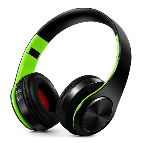 ?4 in 1 Wireless Bluetooth 4.0 Headsets MP3 Player TF Card FM Radio 3.5mm Wired Earphone-GreenVideo &amp; Audio<br>?4 in 1 Wireless Bluetooth 4.0 Headsets MP3 Player TF Card FM Radio 3.5mm Wired Earphone-Green<br>