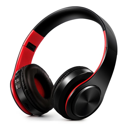 4 in 1 Wireless Bluetooth 4.0 Headsets MP3 Player TF Card FM Radio 3.5mm Wired Earphone-RedVideo &amp; Audio<br>4 in 1 Wireless Bluetooth 4.0 Headsets MP3 Player TF Card FM Radio 3.5mm Wired Earphone-Red<br>