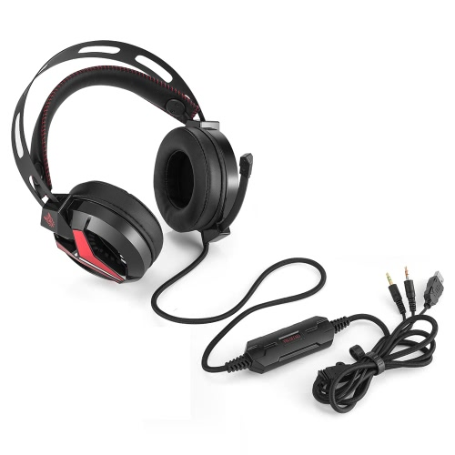 ONIKUMA M180 3.5mm Stereo Gaming Headset Over-Ear Headphones with Retractable Microphone Volume Control Noise Cancelling &amp; LED LigVideo &amp; Audio<br>ONIKUMA M180 3.5mm Stereo Gaming Headset Over-Ear Headphones with Retractable Microphone Volume Control Noise Cancelling &amp; LED Lig<br>