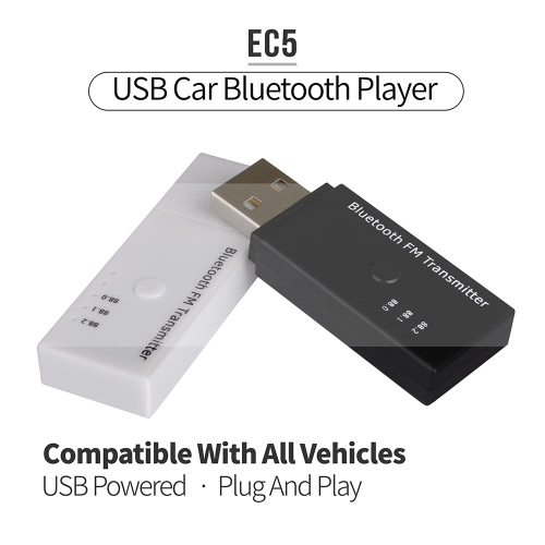 Portable Wireless EC5 USB Car Vehicle Bluetooth FM Transmitter Music Player Lossless Play Handsfree Calls 3 Bands Transmission FreVideo &amp; Audio<br>Portable Wireless EC5 USB Car Vehicle Bluetooth FM Transmitter Music Player Lossless Play Handsfree Calls 3 Bands Transmission Fre<br>