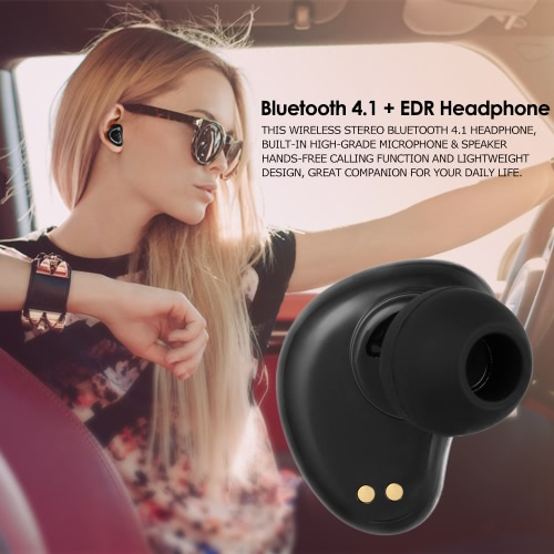 Invisible Bluetooth 4.1 + EDR Headphone In-ear Stereo Music Headset Hands-free Calling Earphone for IOS Android phone with CharginVideo &amp; Audio<br>Invisible Bluetooth 4.1 + EDR Headphone In-ear Stereo Music Headset Hands-free Calling Earphone for IOS Android phone with Chargin<br>