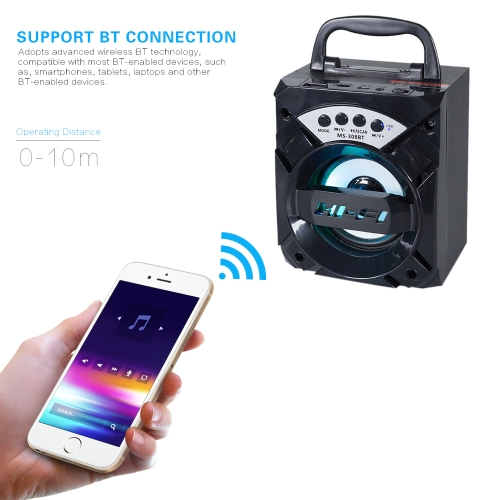 Portable Wireless BT MS-308BT Hi-Fi SpeakerVideo &amp; Audio<br>Portable Wireless BT MS-308BT Hi-Fi Speaker<br>
