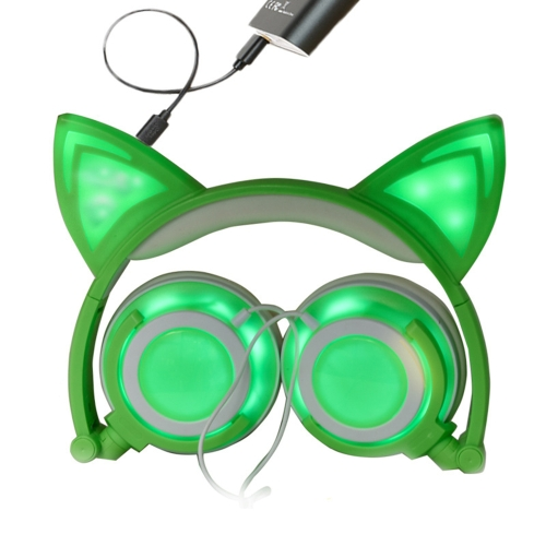 Headphone Cat Ears Earlaps With LED Light Rechargable BatteryVideo &amp; Audio<br>Headphone Cat Ears Earlaps With LED Light Rechargable Battery<br>