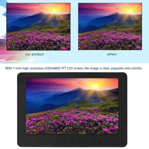 S702 7 inch TFT LCD 16:9 Color Monitor Screen 1024 * 600 BNC VGA  Video Audio for PC CCTV Security VCD DVD US PlugVideo &amp; Audio<br>S702 7 inch TFT LCD 16:9 Color Monitor Screen 1024 * 600 BNC VGA  Video Audio for PC CCTV Security VCD DVD US Plug<br>