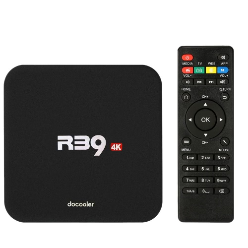 Docooler R39 Smart Android 6.0 TV Box KODI 16.1 RK3229 1G / 8G