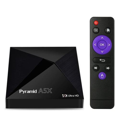 Pyramid A5X Android 6.0 TV Box S905X 2G / 16G Bluetooth 4.0Video &amp; Audio<br>Pyramid A5X Android 6.0 TV Box S905X 2G / 16G Bluetooth 4.0<br>