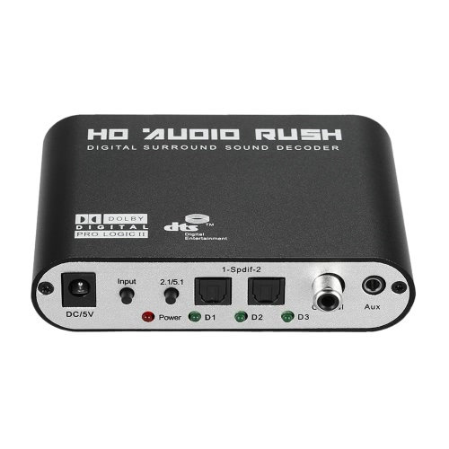 Audio Decoder Rush SPDIF Coaxial to 5.1/2.1 Channel DTS/AC-3Video &amp; Audio<br>Audio Decoder Rush SPDIF Coaxial to 5.1/2.1 Channel DTS/AC-3<br>