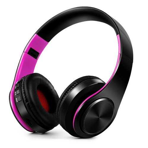 4 in 1 Wireless Bluetooth 4.0 Headsets MP3 Player TF Card FM Radio 3.5mm Wired Earphone-PurpleVideo &amp; Audio<br>4 in 1 Wireless Bluetooth 4.0 Headsets MP3 Player TF Card FM Radio 3.5mm Wired Earphone-Purple<br>