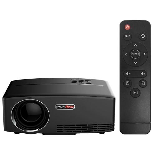 Proiettore GP80 LED 1080P 1800 lumen 800 * 480 pixel 2200: 1 Rapporto di contrasto spina USA