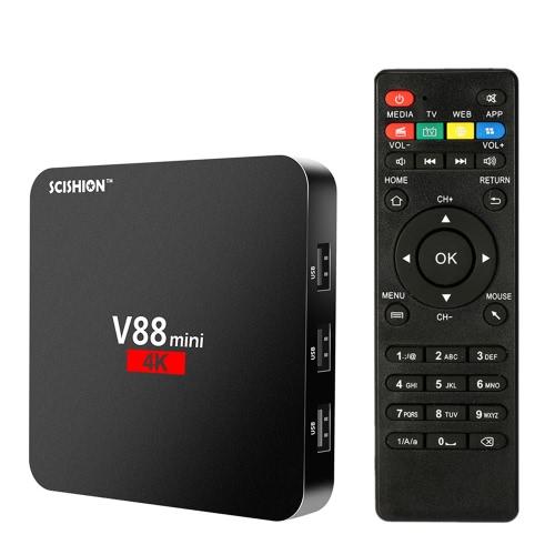 SCISHION V88 mini Smart Android 6.0 TV Box KODI 16.1 Rockchip 3229 1G / 8G EU PlugVideo &amp; Audio<br>SCISHION V88 mini Smart Android 6.0 TV Box KODI 16.1 Rockchip 3229 1G / 8G EU Plug<br>