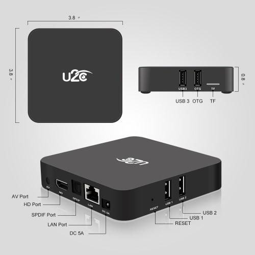 U2C Z SUPER Smart Android TV Box Android 7.1 Amlogic S912 Octa-core 64 Bit 3GB / 32GB H.265 UHD 4K Mini PC 2.4G &amp; 5G WiFi 1000M LAVideo &amp; Audio<br>U2C Z SUPER Smart Android TV Box Android 7.1 Amlogic S912 Octa-core 64 Bit 3GB / 32GB H.265 UHD 4K Mini PC 2.4G &amp; 5G WiFi 1000M LA<br>