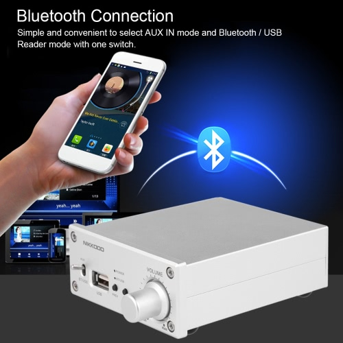NK-268 Digital Audio Power Amplifier Bluetooth 4.0 Mini HiFi Audio Receiver Stereo Amp Dual Channel 50W + 50W with Power Adapter UVideo &amp; Audio<br>NK-268 Digital Audio Power Amplifier Bluetooth 4.0 Mini HiFi Audio Receiver Stereo Amp Dual Channel 50W + 50W with Power Adapter U<br>