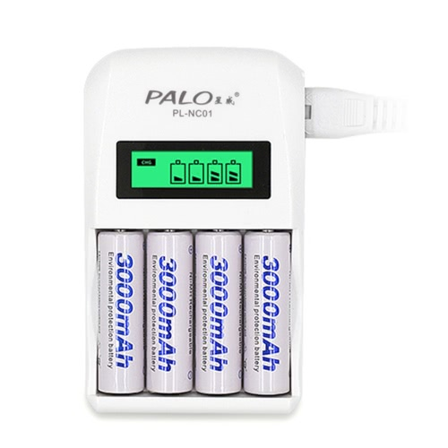PALO Battery Charger for AA/AAA Ni-MH/Ni-Cd Rechargeable BatteriesVideo &amp; Audio<br>PALO Battery Charger for AA/AAA Ni-MH/Ni-Cd Rechargeable Batteries<br>