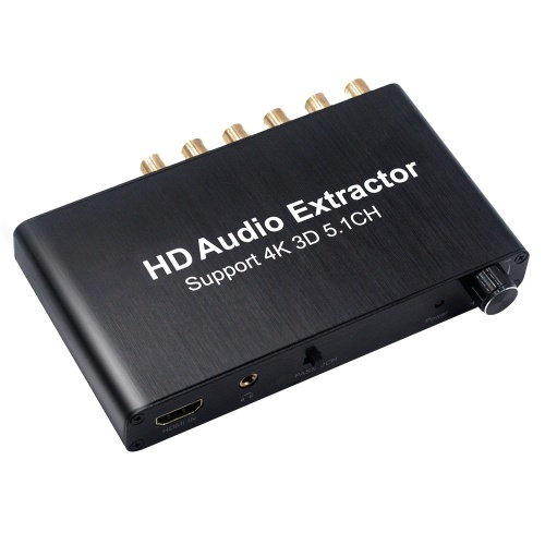 HD Audio Converter SPDIF w/ 3.5mm Stereo HD Audio Adapter HD Extractor Support 3D 4K
