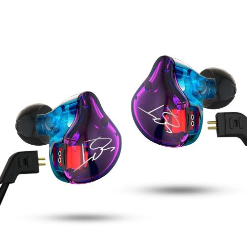 KZ ZST Pro 3.5mm Wired In Ear Headphones PurpleVideo &amp; Audio<br>KZ ZST Pro 3.5mm Wired In Ear Headphones Purple<br>