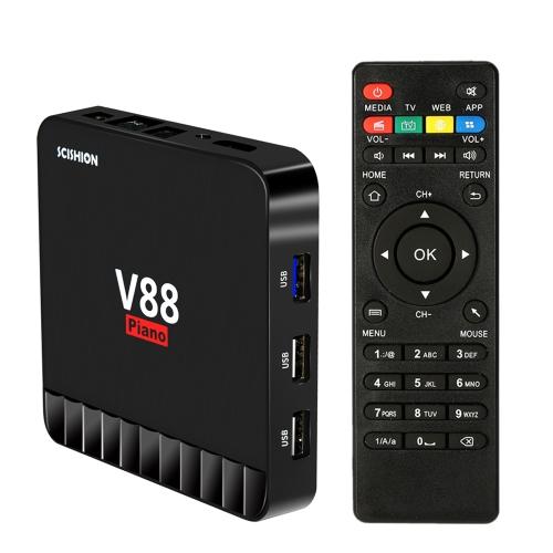 SCISHION V88 Piano Smart 4GB / 16GB Android 7.1 TV Box RK3328Video &amp; Audio<br>SCISHION V88 Piano Smart 4GB / 16GB Android 7.1 TV Box RK3328<br>