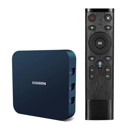 SCISHION AI ONE Android TV Box with Voice Remote Control