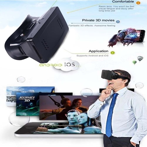 Portable Plastic Version 3D VR Glasses  Virtual Reality DIY 3D Video VR Glasses with Magnetic Switch Hand Belt for All 3.5 ~ 6.0Video &amp; Audio<br>Portable Plastic Version 3D VR Glasses  Virtual Reality DIY 3D Video VR Glasses with Magnetic Switch Hand Belt for All 3.5 ~ 6.0<br>