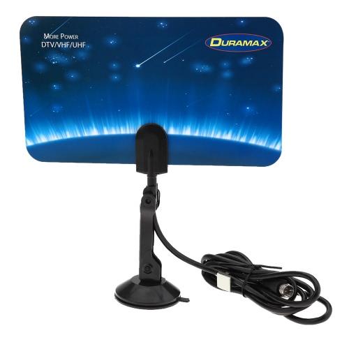Digital Indoor TV HDTV DTV Antenna Flat Design Support Receiving VHF UHF Signals / Free Digital / Analog Signals High Gain US Plug