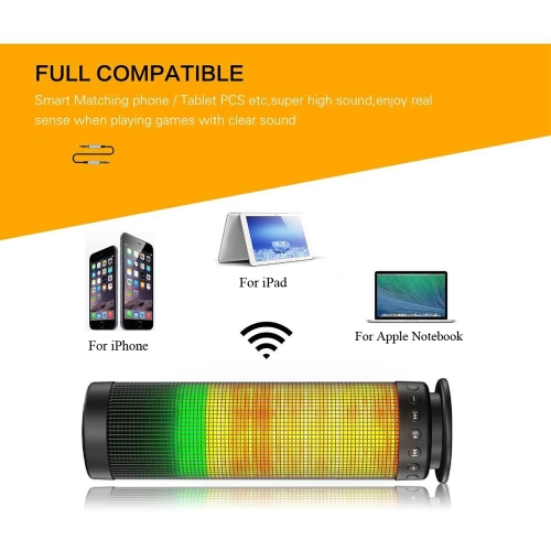 Mini Portable Wireless Bluetooth 4.0 Pulse LED Light Speaker Built-in Microphone Answering Calls AUX IN TF Card Support Indoor OutVideo &amp; Audio<br>Mini Portable Wireless Bluetooth 4.0 Pulse LED Light Speaker Built-in Microphone Answering Calls AUX IN TF Card Support Indoor Out<br>