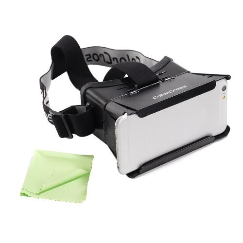 CST-01 Head-Mounted Google versão cartão VR óculos Virtual Reality DIY 3D VR vídeo filme jogo óculos 3D com v de BT 3.0 CSY-01 Mini multifuncional Wireless Selfie câmera Shutter Gamepad para iPhone Samsung / 4.0 todos ~ 6.0
