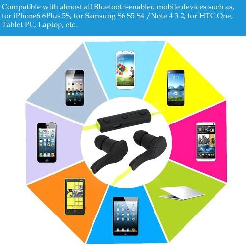 Bluetooth 4.0 + EDR Headset Wireless Neck-strap Sweat-proof Earphone -GreenVideo &amp; Audio<br>Bluetooth 4.0 + EDR Headset Wireless Neck-strap Sweat-proof Earphone -Green<br>