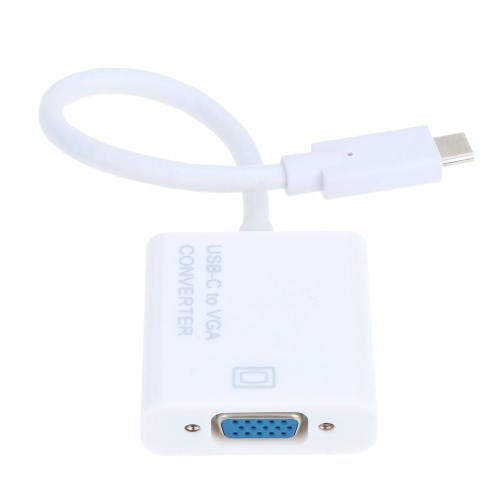 Portable Converter USB-C Reversible Type C USB 3.1 Male to VGA Female 1080p HDTV Adapter Cable for New MacBook 12 Inches Google UlVideo &amp; Audio<br>Portable Converter USB-C Reversible Type C USB 3.1 Male to VGA Female 1080p HDTV Adapter Cable for New MacBook 12 Inches Google Ul<br>