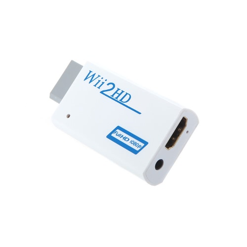 Wii to HD 720P / 1080P HD Output Upscaling Converter Adapter with 3.5mm AudioVideo &amp; Audio<br>Wii to HD 720P / 1080P HD Output Upscaling Converter Adapter with 3.5mm Audio<br>