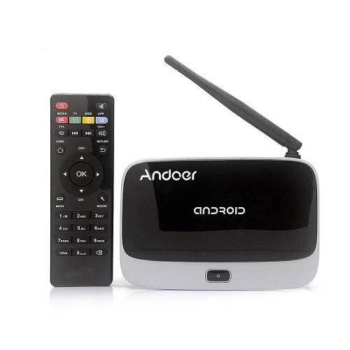 CS918 Android 4.4 TV Box joueur RK3188T Quad Core 2 Go / 8 Go WiFi 1080P avec télécommande prise EU