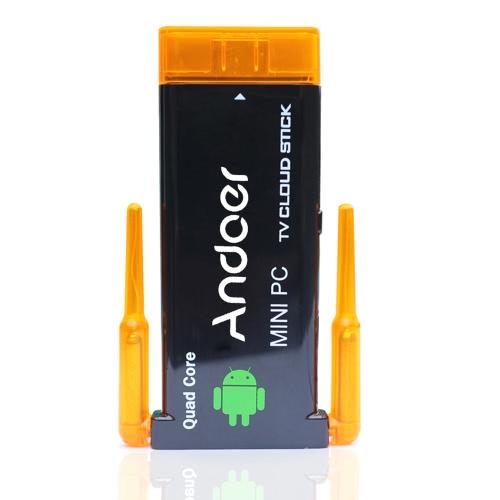CX919 Caixa de PC Mini 4.2 Android TV Stick Quad Core 2G/8GB BT Dual WiFi antena externa 1080p