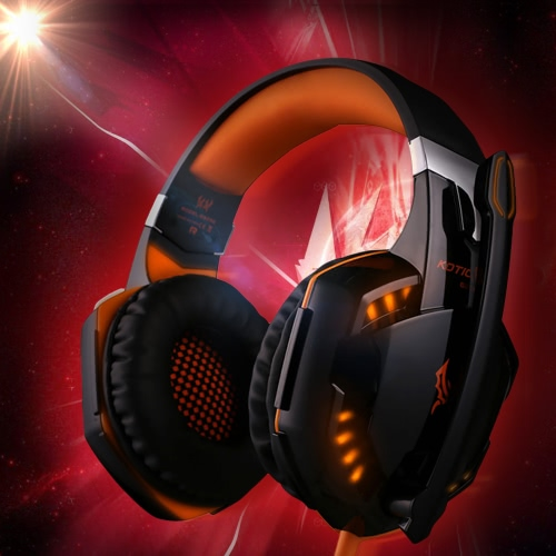 EACH G2000 Over-ear Game Gaming Headphone Headset Earphone Headband with Mic Stereo Bass LED Light for PC GameVideo &amp; Audio<br>EACH G2000 Over-ear Game Gaming Headphone Headset Earphone Headband with Mic Stereo Bass LED Light for PC Game<br>