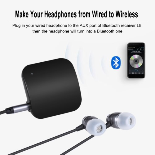 Stereo Bluetooth Headphone Audio Receiver Wireless Headset Clip 3.5mm AUX Noise Cancelling Mic for iPhone 8/Plus/X (White)Video &amp; Audio<br>Stereo Bluetooth Headphone Audio Receiver Wireless Headset Clip 3.5mm AUX Noise Cancelling Mic for iPhone 8/Plus/X (White)<br>