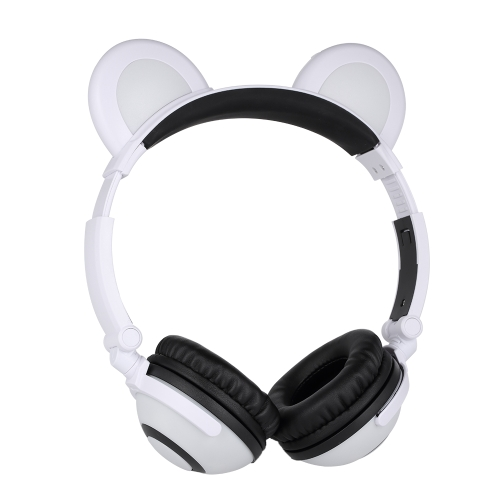 Bear Ear Kids Headphones Foldable Over-head Headset Cosplay Gaming Earphone Glowing Flashing Rechargeable for Tablet PC Smart PhonVideo &amp; Audio<br>Bear Ear Kids Headphones Foldable Over-head Headset Cosplay Gaming Earphone Glowing Flashing Rechargeable for Tablet PC Smart Phon<br>