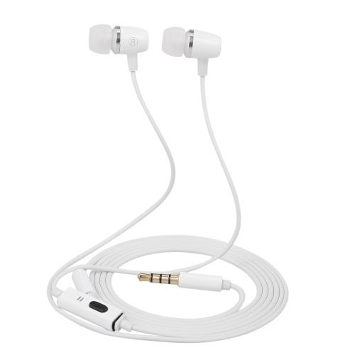 3.5mm Filaire Casque Stéréo Musique Écouteurs In-Ear Casque Smart Téléphone Écouteur Écouteurs En Ligne Contrôle w / Microphone pour iPhone Samsung