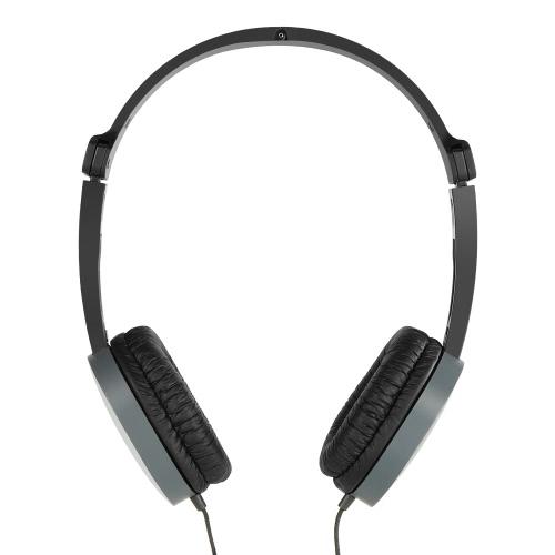 CLAMSHINE GS-J1 3.5mm casque filaire Over-oreille casque mains libres avec micro pour téléphones intelligents Ordinateurs Gris