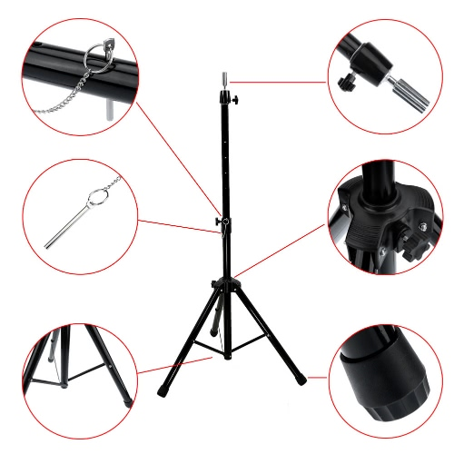 Adjustable Mannequin Head Tripod Hairdressing Training Head Holder Salon Hair Clamp Wig StandHealth &amp; Beauty<br>Adjustable Mannequin Head Tripod Hairdressing Training Head Holder Salon Hair Clamp Wig Stand<br>