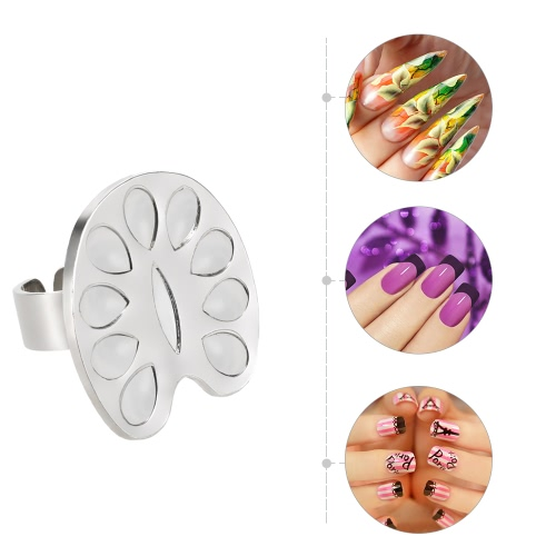 Mini Nail Art Color Ring Palette Eyelash Grafting Plate Alloy Nail Art Tool Metal Finger Ring Mixing Color Palette For Nail PaintiHealth &amp; Beauty<br>Mini Nail Art Color Ring Palette Eyelash Grafting Plate Alloy Nail Art Tool Metal Finger Ring Mixing Color Palette For Nail Painti<br>