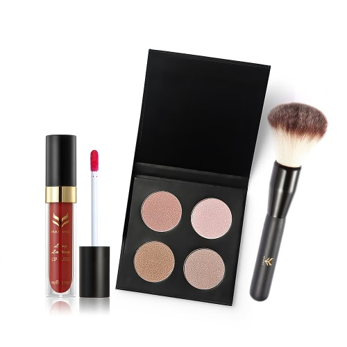 Huamianli Brand 7Pcs Cosmetic Kit 4 Colors Pressed Powder Mascara Eyeshadow Eyebrow Powder Lip Gloss Eyeliner Pen Blush Brush MakeHealth &amp; Beauty<br>Huamianli Brand 7Pcs Cosmetic Kit 4 Colors Pressed Powder Mascara Eyeshadow Eyebrow Powder Lip Gloss Eyeliner Pen Blush Brush Make<br>